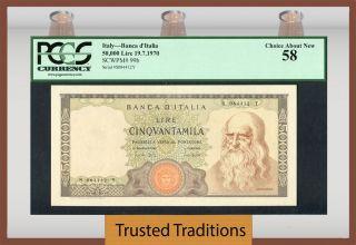 Tt Pk 99b 1970 Italy 50000 Lire