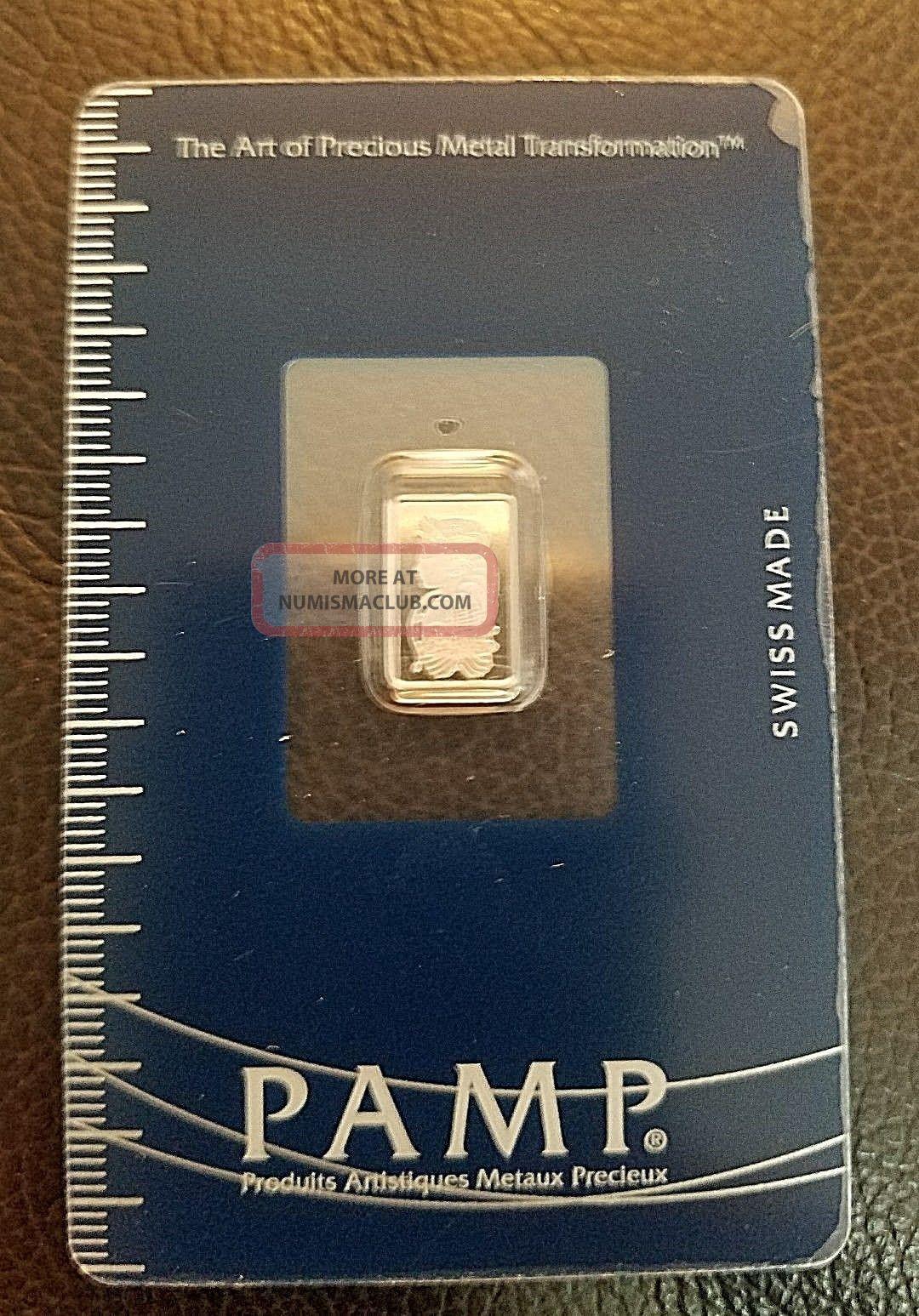 1 Gram Pamp Suisse Multigram Platinum Bar.  9995 Pure Platinum photo