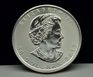 2017 $50 Canada Platinum Maple Leaf 1 Troy Oz.  9995 Fine Platinum Coin photo