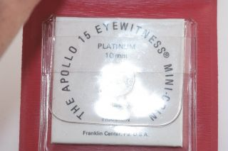 1971 Franklin Platinum Apollo 15 Eyewitness 10mm Mini Coin W photo