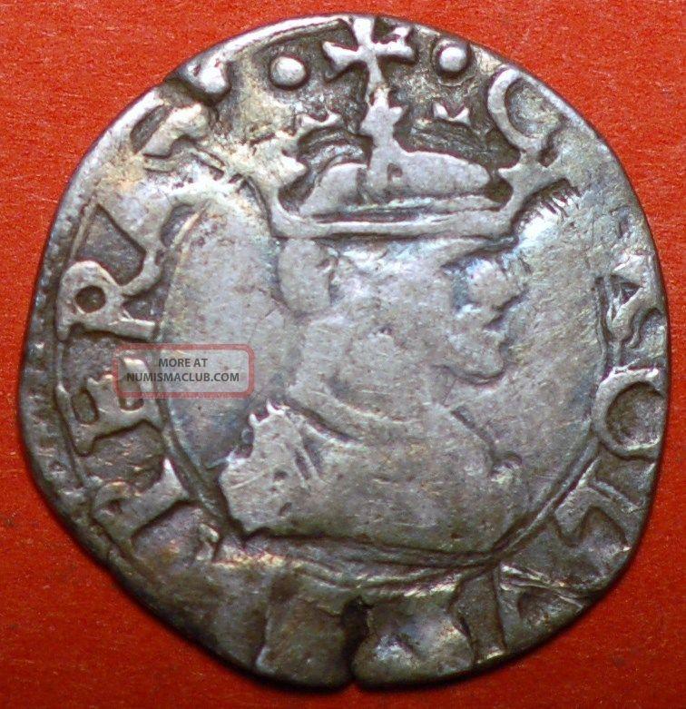 Italy Medieval Silver Messina Carlo V 1540? 1/2 Tarì. Coins: Medieval photo