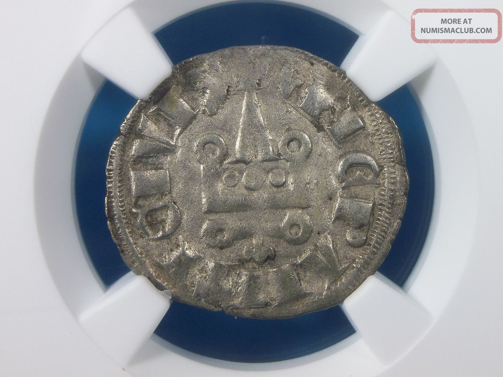 Silver Crusader Denier Of Philip Of Taranto 1294 - 1313 Ad Ngc Vf 35 2004 Coins: Medieval photo