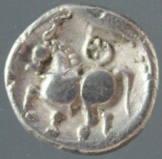 Celtic Silver Drachm,  Dachreiter Type,  Horse,  Scordoski,  Boier,  3.  Century Bc photo