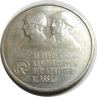 Elf East Germany 10 Mark 1983 A Worker ' S Militia 30th photo