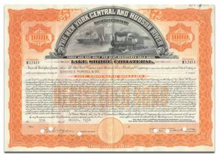 York Central & Hudson River Railroad Company Bond (lake Shore Collateral) photo