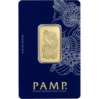 20 Gram Gold Bar - Pamp Suisse - Fortuna - 999.  9 Fine In Assay photo