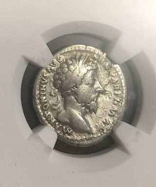 Marcus Aurelius Aequitas 167ad Ancient Roman Silver Denarius Ngc 3.  24g photo