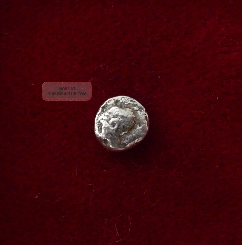 Ionia,  Uncertain Ar Hemiobol Star / Floral Figural Pattern 5thc Bc Coins: Ancient photo