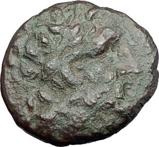 Pergamon In Mysia 100bc Ancient Greek Coin Asclepius & Serpent Omphalos I62103 photo