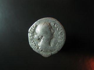 Silver Denarius Of Faustina The Younger 161 - 175 Ad photo