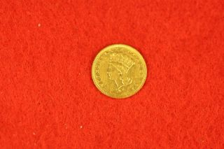 1856 Liberty One Dollar $1 Gold Piece D2050 photo