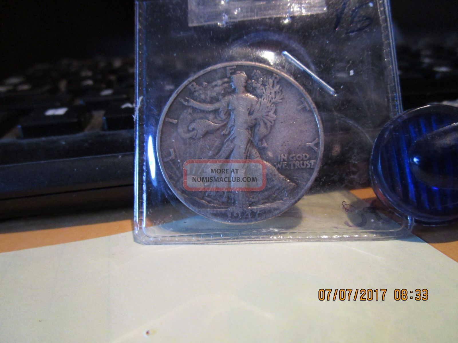 1947 - D Walking Liberty Half F, Half Dollars photo