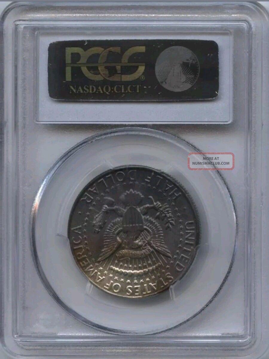 1964 Kennedy Half Dollar Pcgs Ms64 Phenomenal Rainbow Toning