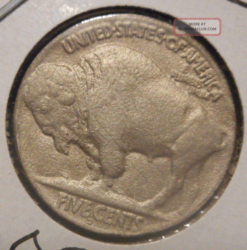 1919 D 5c Buffalo Nickel Rare End Teens Denver Key ^horn Detail Nickels photo