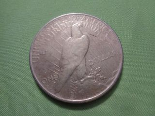 1922 - D Peace Silver Dollar - 90 Silver photo