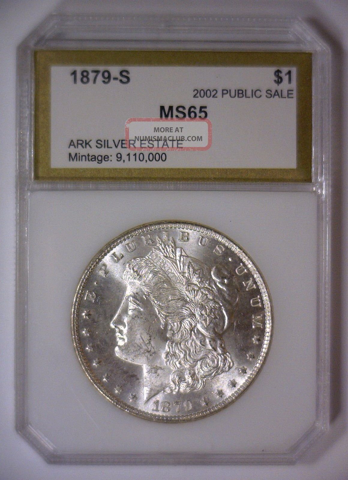 1879 S Morgan Silver Dollar Ms $1 Arkansas Silver Estate 2002 Gem Bu Unc Morgan (1878-1921) photo