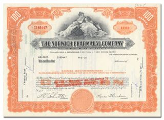 Norwich Pharmacal Company Stock Certificate (pepto - Bismol) photo