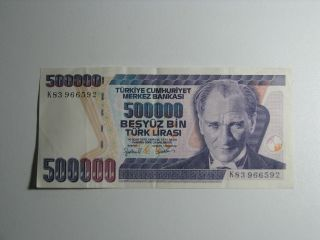 Turkey 500000 Lire 1970 Banknote Paper Money Bill Note Currency photo