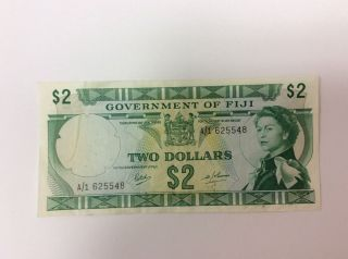 1969 Government Of Fiji Two Dollar Bill photo