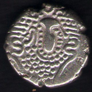 Ancient India - Indo Sassanian Empire (3 - 4 Centuries) Silver Drachm photo