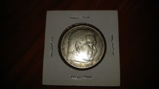 1936 - A 5 - Mark German Silver 3rd.  Reich Swastika Coin photo