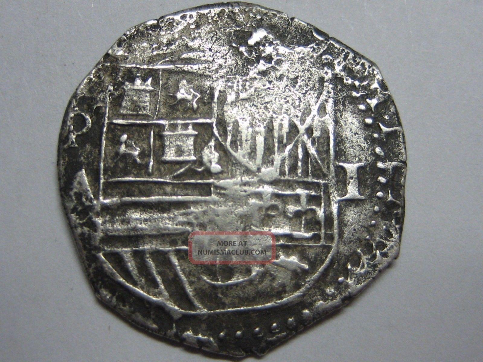 Philip Ii 1 Real Cob Potosi Assayer A Bolivia Spanish Colonial Spain Silver Coin South America photo