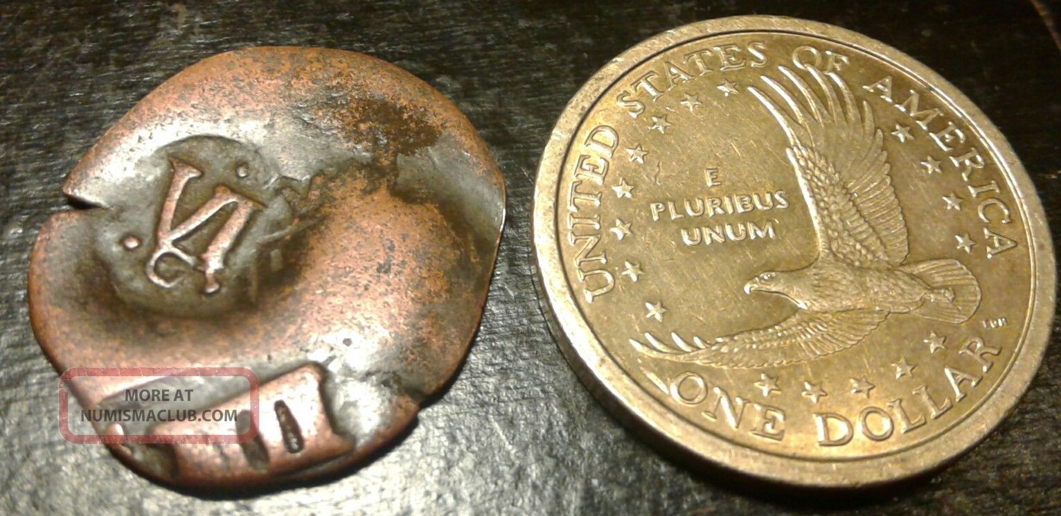 ☆rare Pirate Spanish Copper Reale Cob Coin Of King Philip☆ Pirate Blackbeard