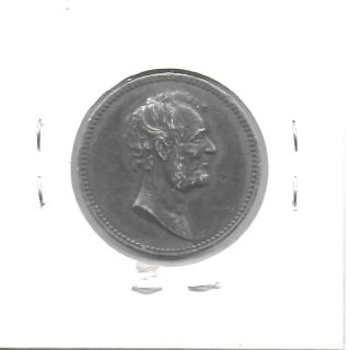 Us Nd (1868 - 1890) Barber Lincoln/garfield Memorium Silver Medal 25 Mm Toned Au photo