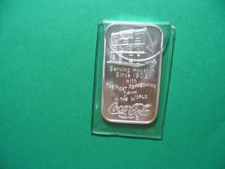 Unc Houston 1 Oz.  999 Coca Cola Art Bar 75th Anniversary In Case photo