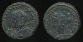 Constantine I,  (bronze) Ae - Follis,  Ad 307 - 337 (18mm,  3.  95 Gm) Ticinum photo