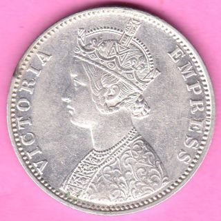 British India - 1900 - ' B ' Incuse - One Rupee - Victoria Empress - Rarest Silver Coin - 60 photo