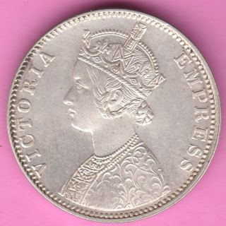 British India - 1901 - ' B ' Incuse - One Rupee - Victoria Empress - Rarest Silver Coin - 57 photo