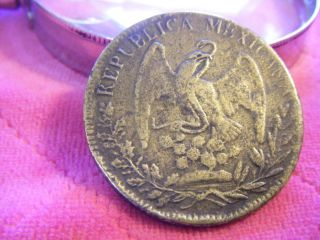 1834 Republican Mexicana Silver Coin In. photo