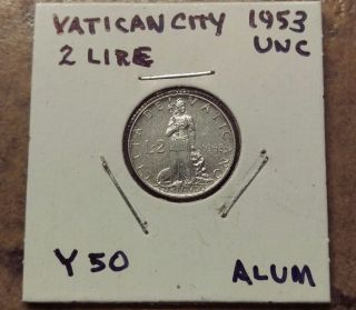 Vatican City 1953,  2 Lire - Unc photo