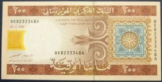 Mauritania 200 Ouguiya 2006 World Paper Money photo