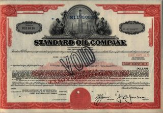 $1,  170,  000 Standard Oil Company Bond Stock Certificate Exxon photo