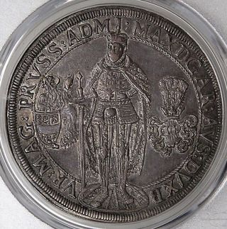 Teutonic Order Of Knights 1610 Silver Thaler Pcgs Au55 photo