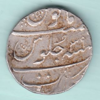 Mughal India - Aurangzeb Alamgir - One Rupee - Surat - Full photo