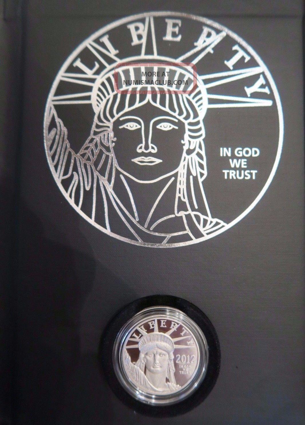 2012w Platinum Proof Eagle Preamble Series Us $100 Face Value W/carrier&box Platinum photo