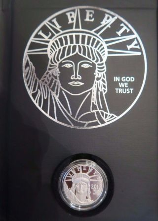 2012w Platinum Proof Eagle Preamble Series Us $100 Face Value W/carrier&box photo