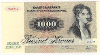 1000 Kroner (kr) C5 1992 Unc Registered Shipment photo