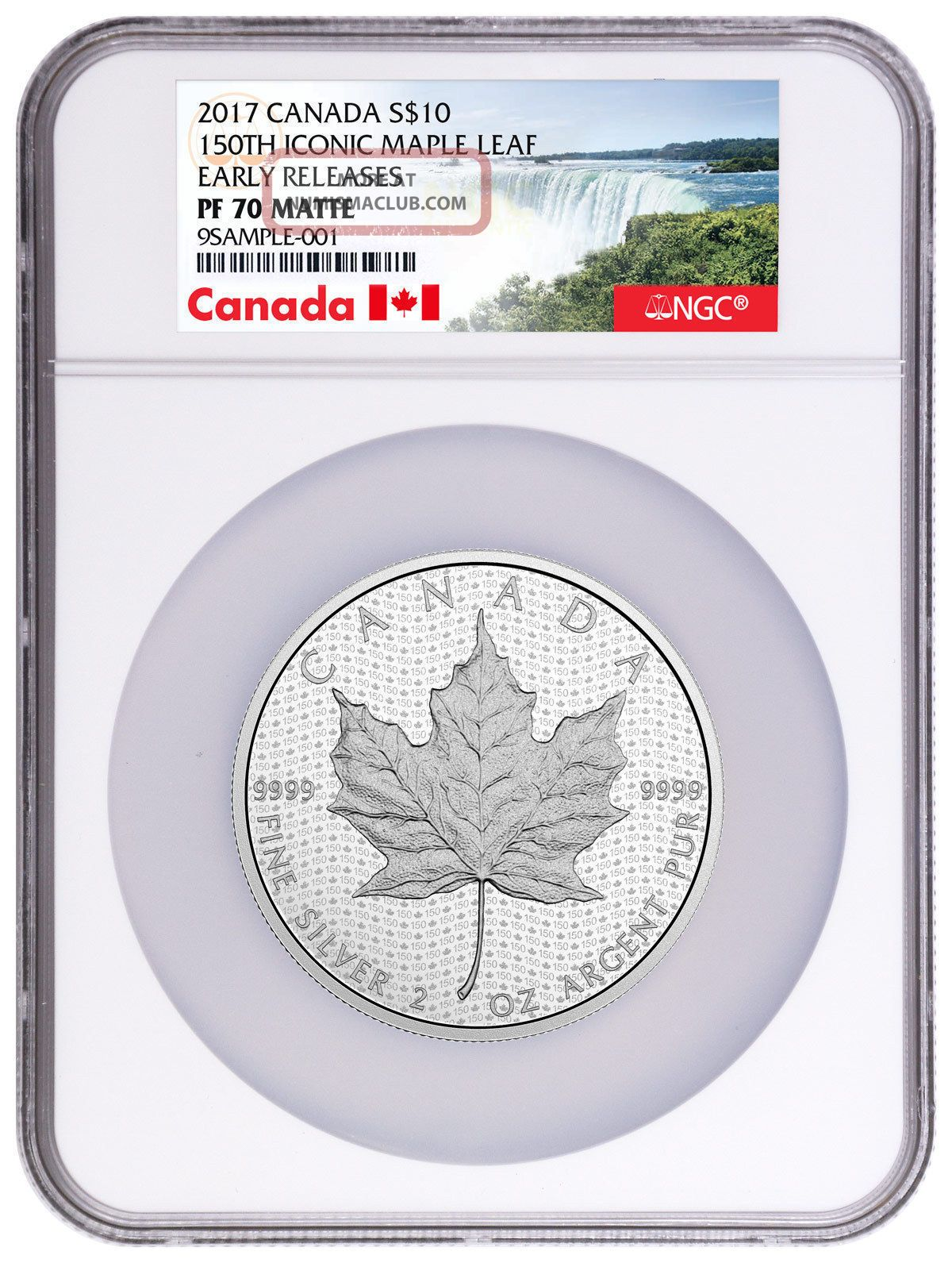 2017 Canada $10 2 Oz Matte Silver Canada 150th Ngc Pf70 Er Canada Label Sku44627 Coins: Canada photo