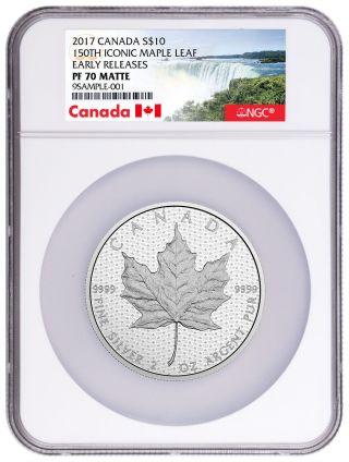 2017 Canada $10 2 Oz Matte Silver Canada 150th Ngc Pf70 Er Canada Label Sku44627 photo