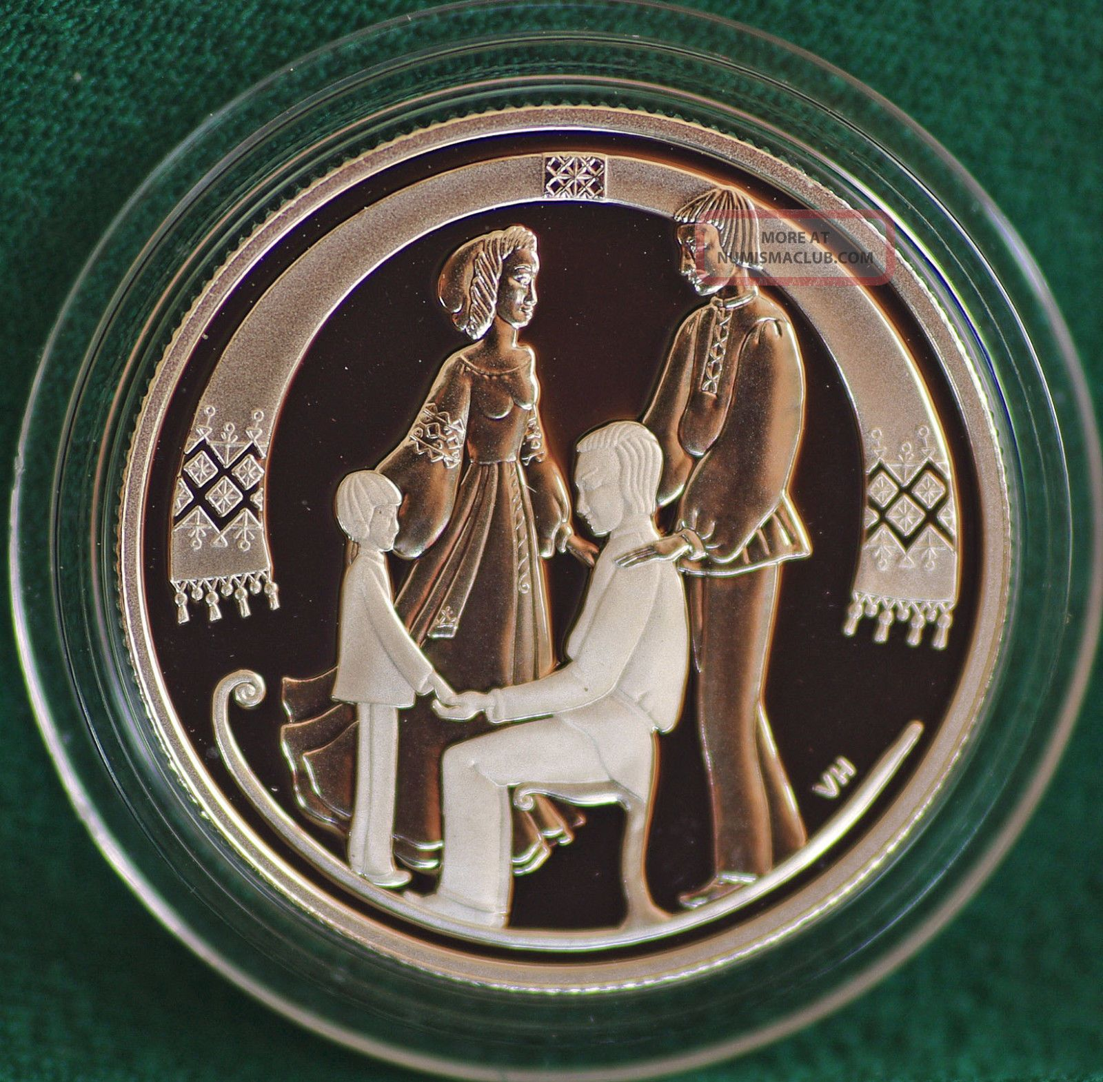 2001 Canada The Sled - Folklore Silver Proof 50 Cent - - Coin Only Coins: Canada photo