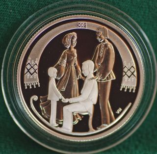 2001 Canada The Sled - Folklore Silver Proof 50 Cent - - Coin Only photo
