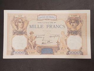 France 1000 Francs 1939 photo