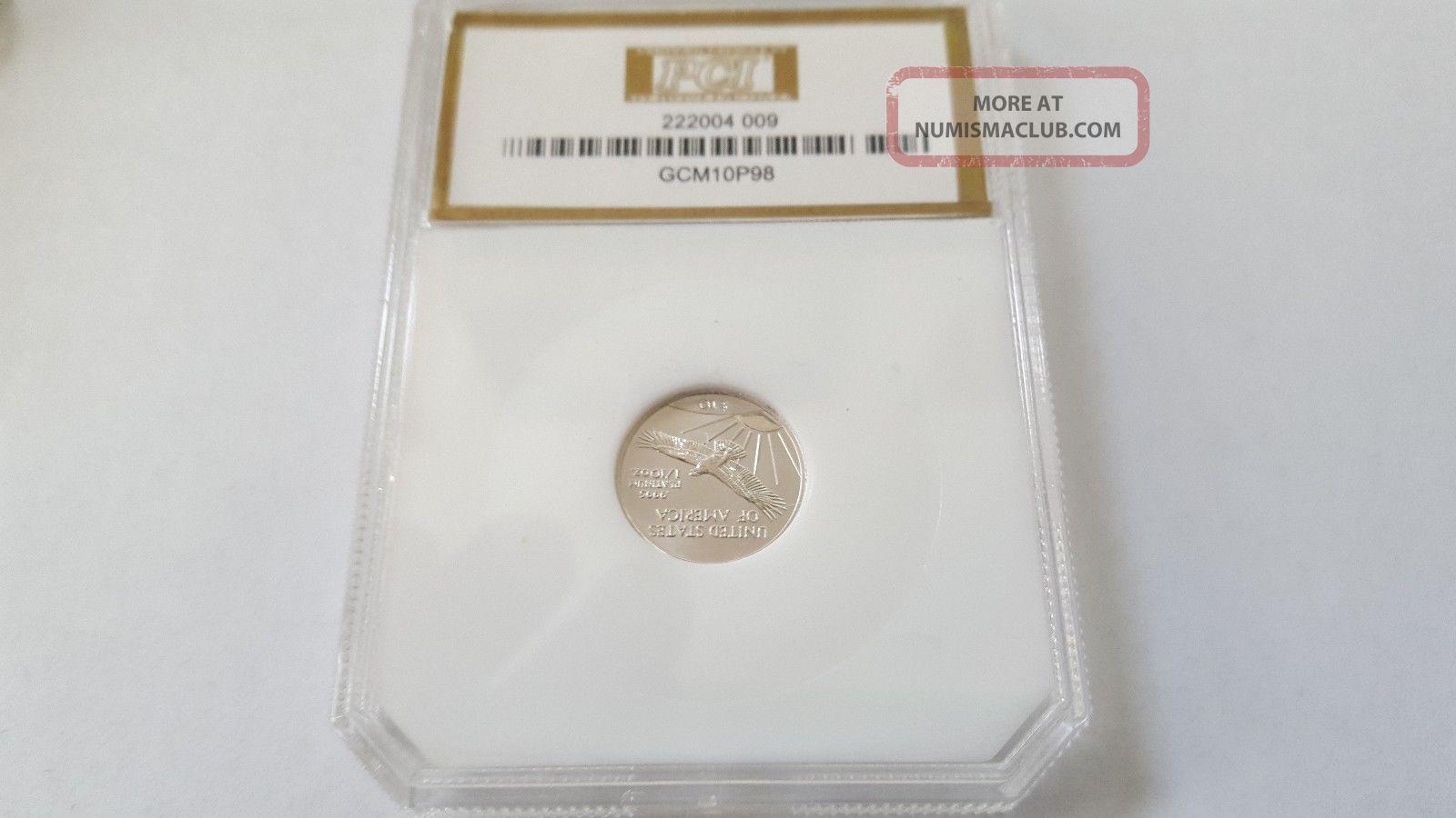 1998 Us Platinum Eagle 1/10 Oz Platinum photo