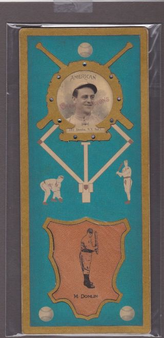 Helmar L3,  Cabinet Baseball Card Of Mike Donlin - N.  Y.  Giantss 191 photo