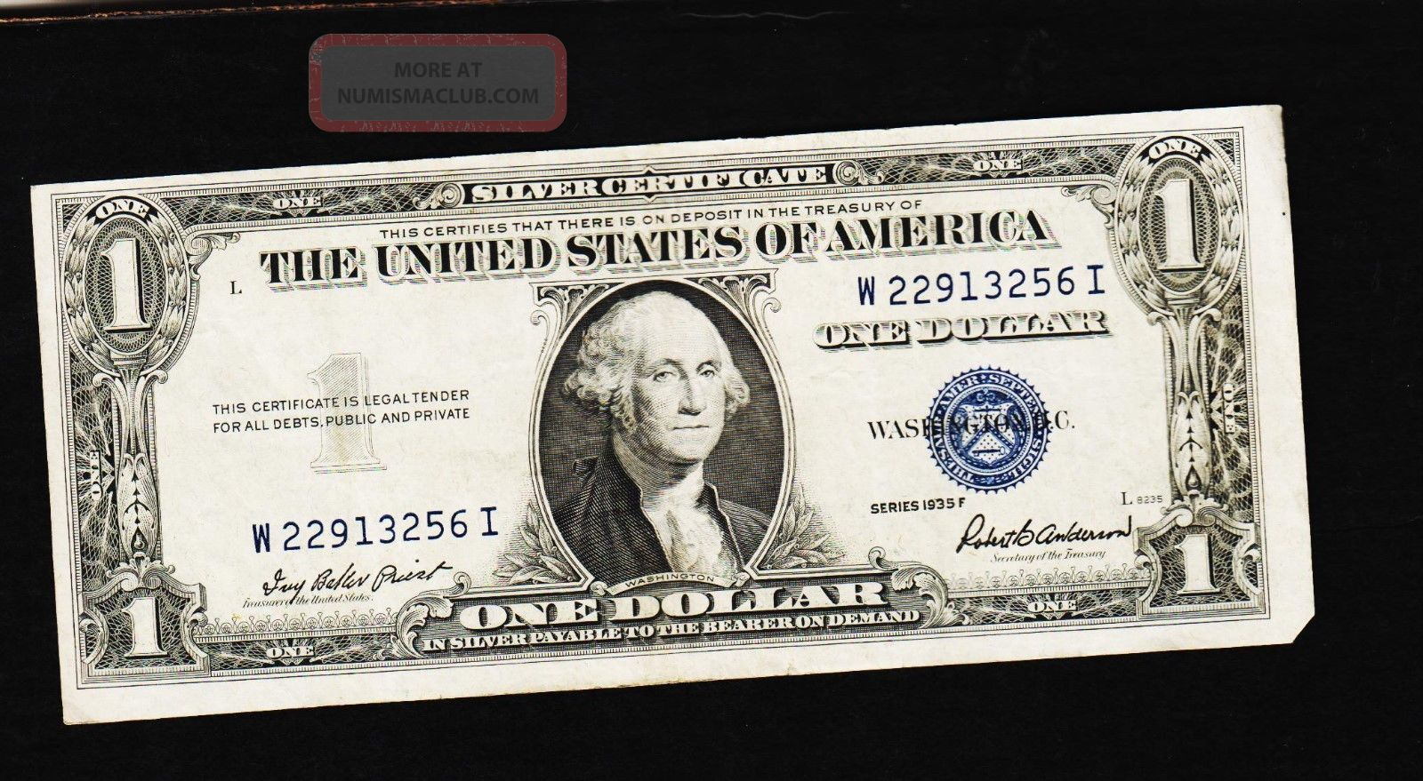Series 1935 F One Dollar Silver Certificategoodcrisp