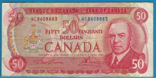 1975 Bank Of Canada $50 Bank Note Rcmp Musical Ride H/c8608883 Circ. photo